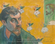 Self-Portrait, Les Miserables painting reproduction, Paul Gauguin