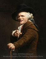 Self-Portrait of the Artist in the Guise of a Mocker painting reproduction, Joseph Ducreux