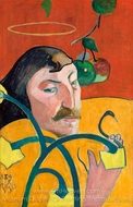 Self-Portrait with Halo painting reproduction, Paul Gauguin