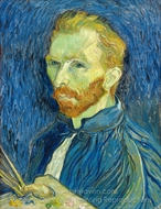 Self-Portrait with Paint Palette painting reproduction, Vincent Van Gogh