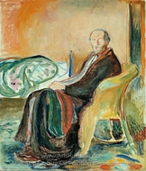 Self Portrait with the Spanish Flu painting reproduction, Edvard Munch