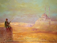 Sentinel at Entrance of Cairo painting reproduction, Louis Comfort Tiffany