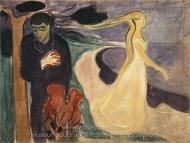 Separation painting reproduction, Edvard Munch
