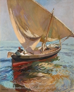 Setting Out to Sea, Valencia painting reproduction, Joaquin Sorolla