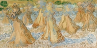Sheaves of Wheat painting reproduction, Vincent Van Gogh