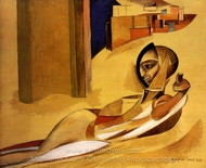 Sheik's Wife painting reproduction, Wyndham Lewis