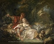 Shepherd and Shepherdess painting reproduction, Francois Boucher