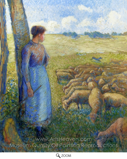 Camille Pissarro, Shepherdess oil painting reproduction