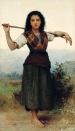 Shepherdess (Pastourelle) painting reproduction, William A. Bouguereau