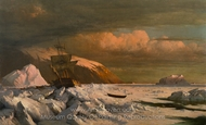 Ship Trapped in Pack Ice painting reproduction, William Bradford