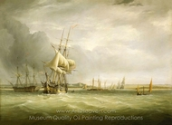 Shipping in the Bristol Channel painting reproduction, Joseph Walter