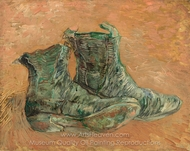 Shoes painting reproduction, Vincent Van Gogh