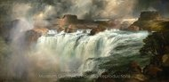 Shoshone Falls on the Snake River painting reproduction, Thomas Moran
