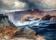 Shoshone Falls, Snake River, Idaho painting reproduction, Thomas Moran