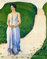 Silence of the Evening painting reproduction, Ferdinand Hodler