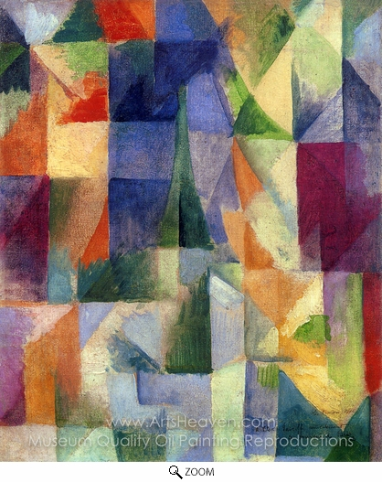 Robert Delaunay, Similtaneous Open Windows oil painting reproduction