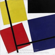 Simultaneous Counter-Composition painting reproduction, Theo Van Doesburg