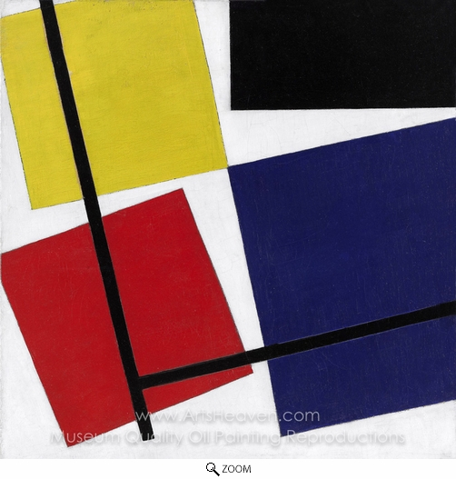 Theo Van Doesburg, Simultaneous Counter-Composition oil painting reproduction