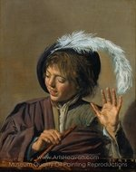 Singing Boy with a Flute painting reproduction, Frans Hals