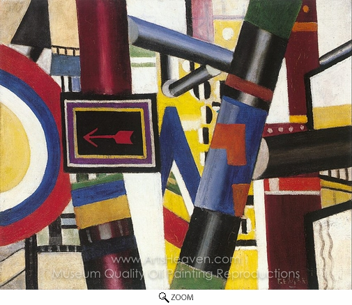 Fernand Leger, Sketch for the Railway Crossing oil painting reproduction