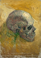 Skull painting reproduction, Vincent Van Gogh