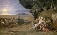 Sleep painting reproduction, Pierre Puvis De Chavannes