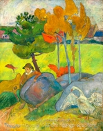 Small Breton Goose painting reproduction, Paul Gauguin