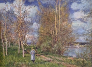 Small Meadows in Spring painting reproduction, Alfred Sisley