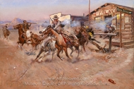 Smoke of a .45 painting reproduction, Charles Marion Russell