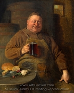 Snack Time of the Klosterschafflers painting reproduction, Eduard Von Grutzner