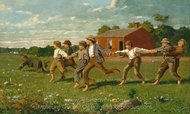 Snap the Whip painting reproduction, Winslow Homer