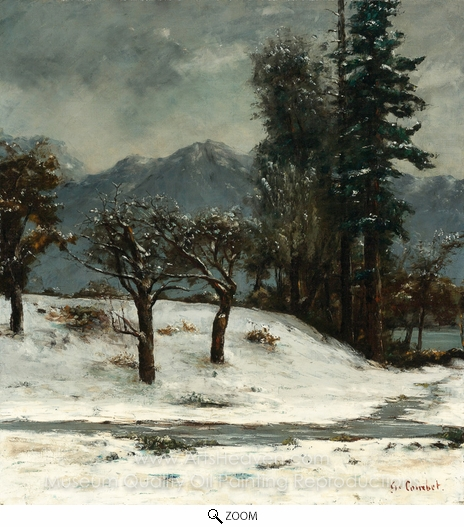 Gustave Courbet, Snow oil painting reproduction