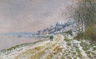 Snow Covered Landscape painting reproduction, Claude Monet