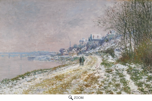 Claude Monet, Snow Covered Landscape oil painting reproduction