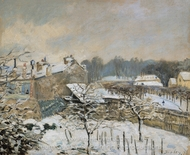Snow Effect at Louveciennes painting reproduction, Alfred Sisley