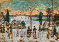 Snow in April painting reproduction, Maurice Prendergast