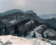 Snow Mountain painting reproduction, Henry Hobart Nichols