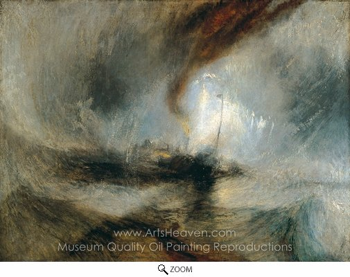 Joseph M. W. Turner, Snowstorm oil painting reproduction