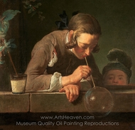 Soap Bubbles painting reproduction, Jean Simeon Chardin