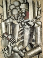 Soldier with a Pipe painting reproduction, Fernand Leger