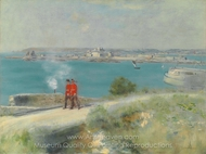 Soldiers in Jersey painting reproduction, Jean-Francois Raffaelli