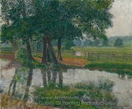 Somerset Landscape painting reproduction, Spencer Frederick Gore