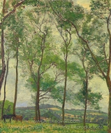 Somerset Landscape, near Applehayes painting reproduction, Spencer Frederick Gore