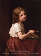 Soup painting reproduction, William A. Bouguereau
