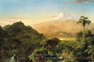 South American Landscape painting reproduction, Frederic Edwin Church