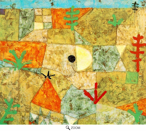 Paul Klee, Southern Gardens oil painting reproduction
