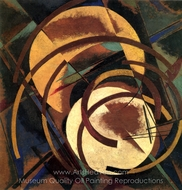 Space Force Construction painting reproduction, Liubov Popova