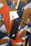 Space Power Construction painting reproduction, Liubov Popova