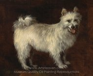 Spitz Dog painting reproduction, Thomas Gainsborough