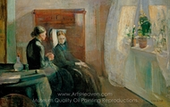 Spring painting reproduction, Edvard Munch